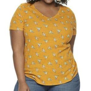 EVRI Women's Top Hummingbirds Short Sleeve Shirt